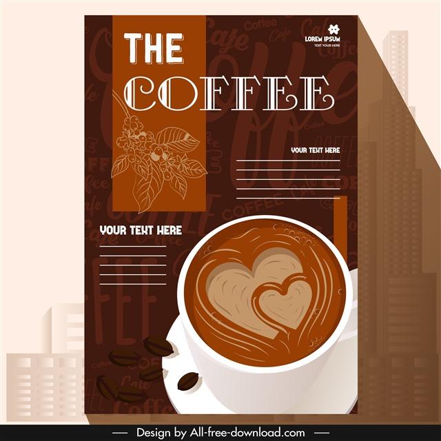 咖啡店菜单封面插画