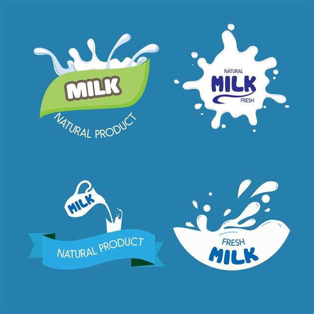 牛奶广告装饰图案