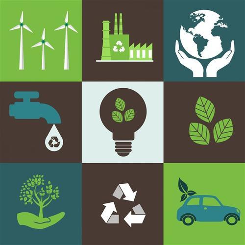 生态学环保元素图标设计