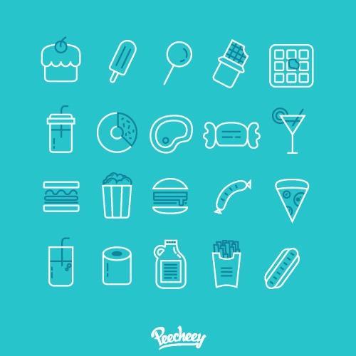 食品菜单图标符号
