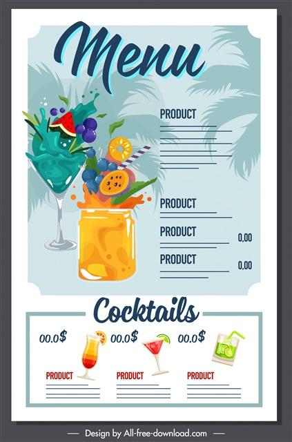 创意奶茶菜单设计模板