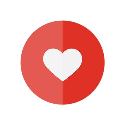 红色爱心点赞图标