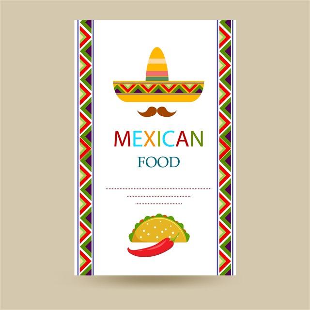 墨西哥餐厅菜单模板