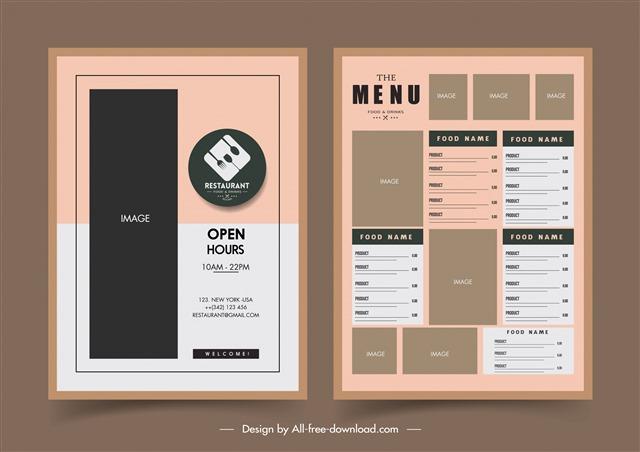 简约菜单设计模板