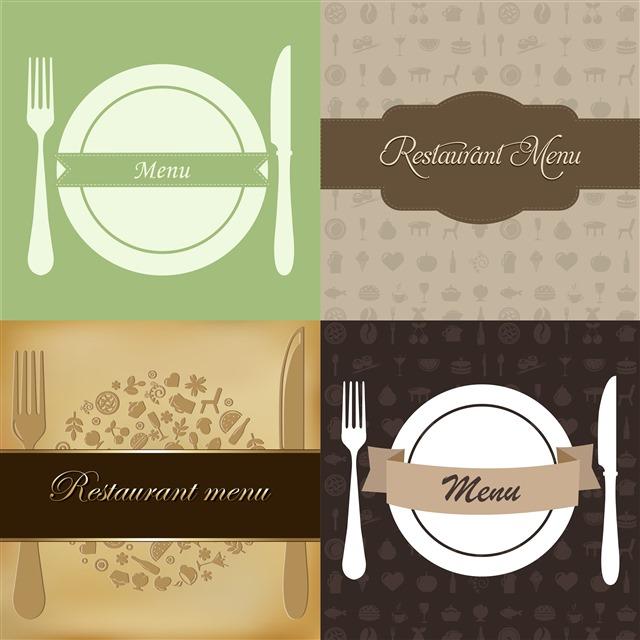 创意餐厅菜单模板设计