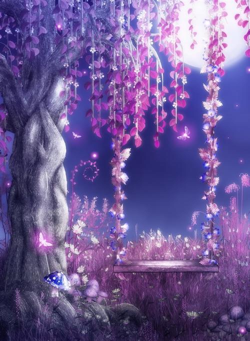 梦幻紫色背景图