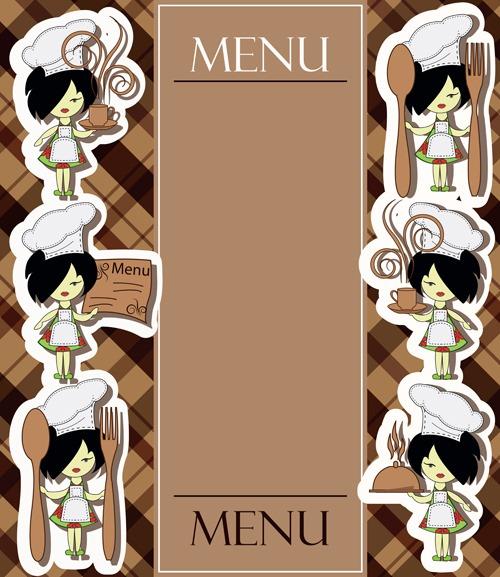 卡通手绘菜单设计模板