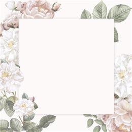 浪漫婚礼花卉请柬封面图