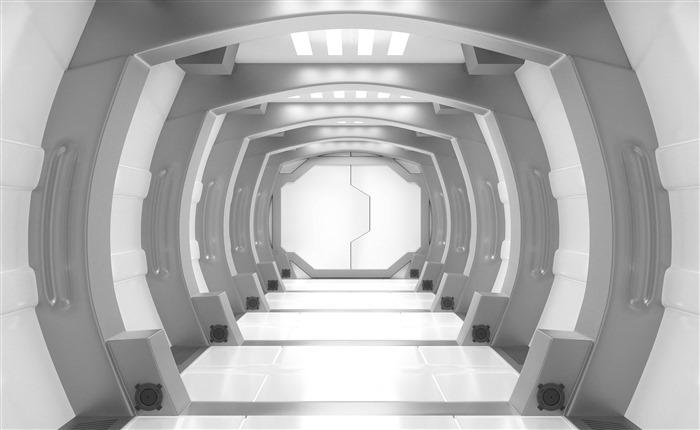科技太空舱背景