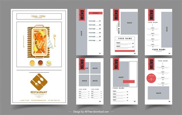 个性菜单设计模板