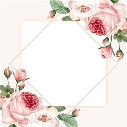 小清新手绘花朵边框背景图