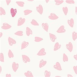 粉色爱心无缝背景图