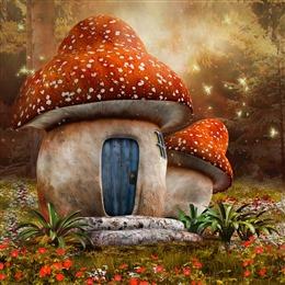 童话森林背景图片