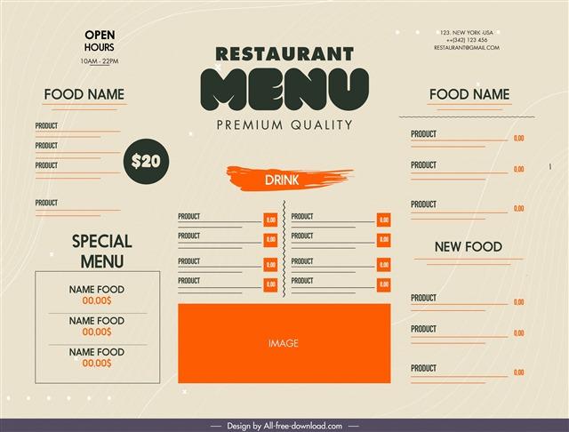 自制菜单设计图片