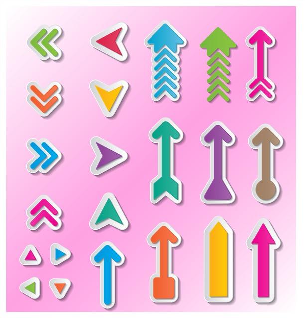 彩色矢量箭头图标