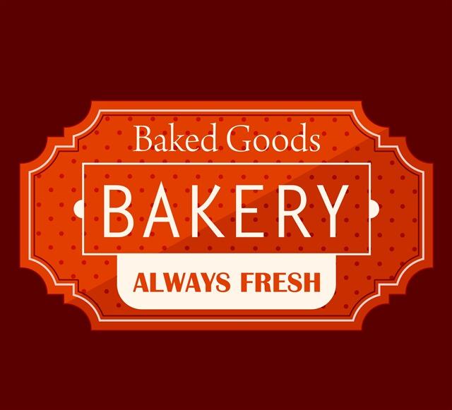面包房食品招牌广告封面