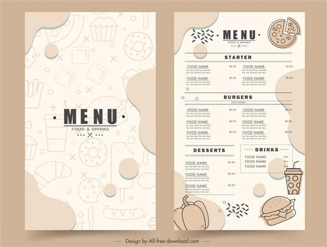 菜单封面手绘设计图