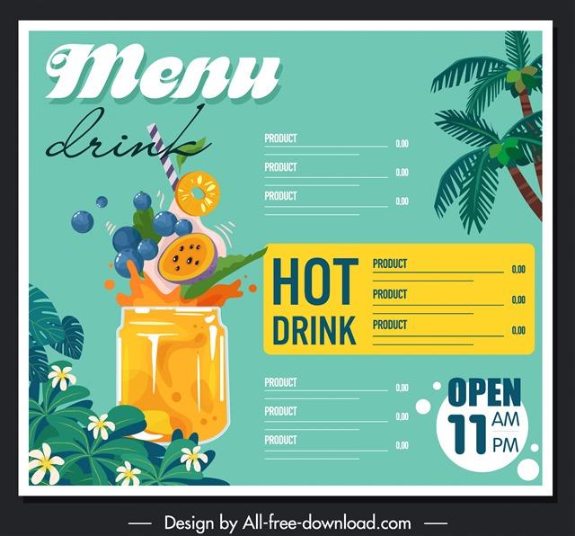 饮品餐牌设计图片