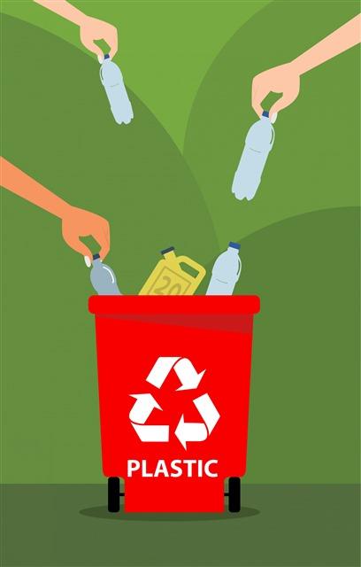 垃圾分类回收手绘插画图片