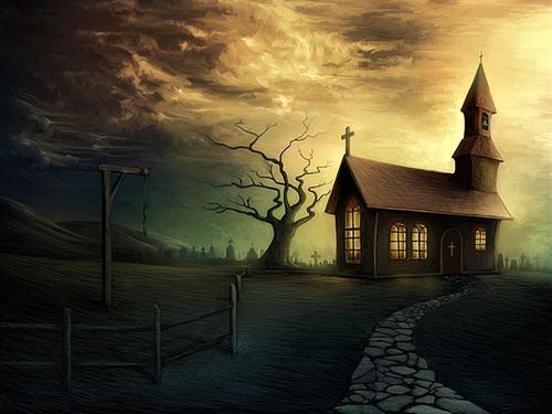 恐怖房子背景
