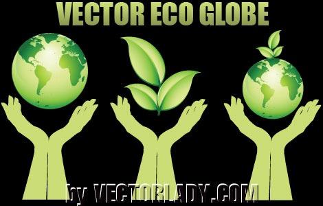 生态自然绿色图标设计