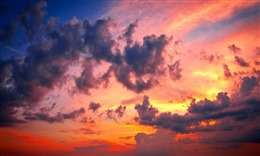 最美晚霞风景图片