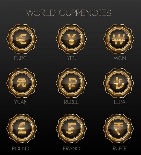 各国货币图标