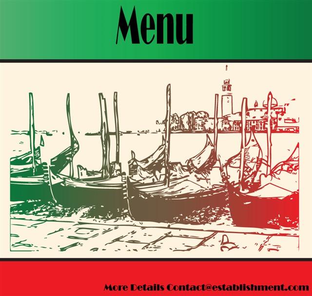 意大利菜单复古设计