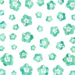 绿色手绘花纹背景