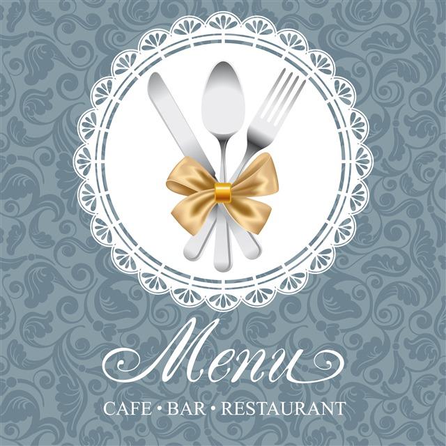 优雅菜单封面设计
