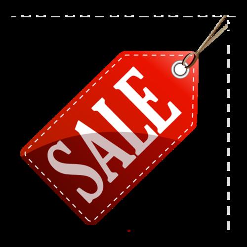 红色sale吊牌标签