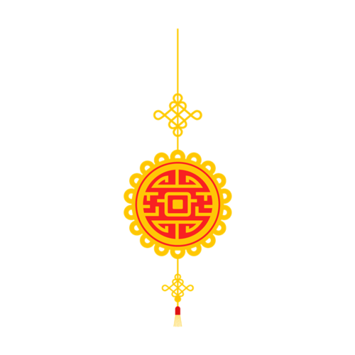 新年中国结元素图片