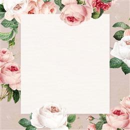 浪漫玫瑰花朵边框背景图