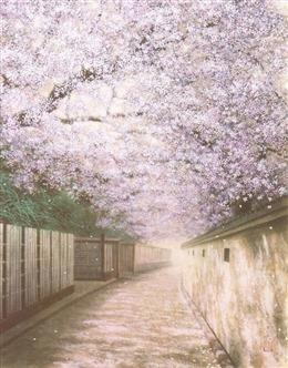 日漫樱花街道壁纸
