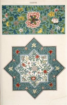 中式鲜花背景图片