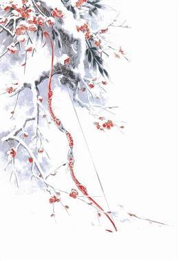 梅花古风背景图片