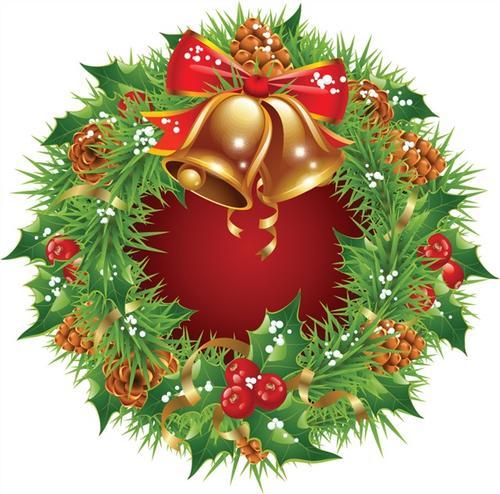 花环圣诞节铃铛图片免抠