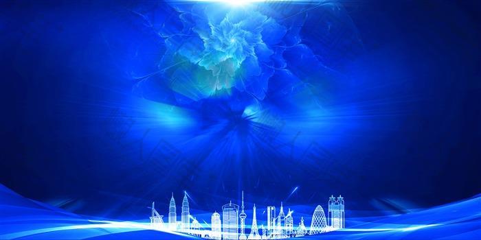 蓝色科技感炫酷背景图片