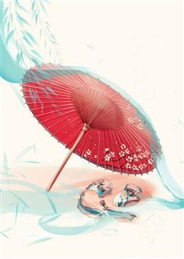 江南烟雨油纸伞古风图片