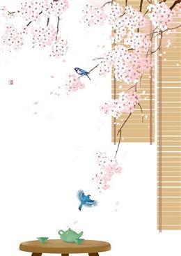 日式樱花背景图片