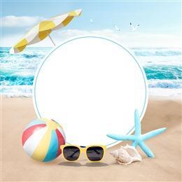 海边沙滩背景图