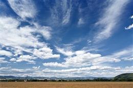 草地蓝天白云背景图片