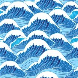 蓝色海浪免抠背景
