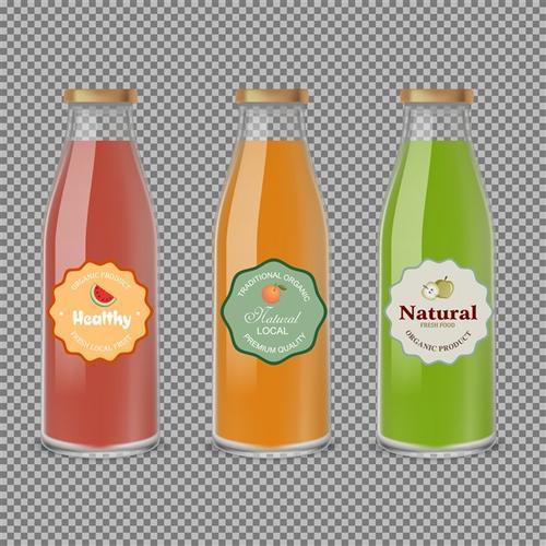 卡通果汁饮料瓶免抠图