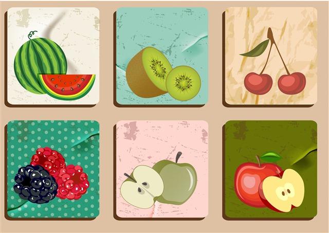 创意水果插画