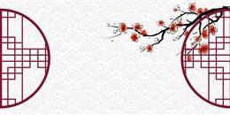 梅花雕窗古风背景图片