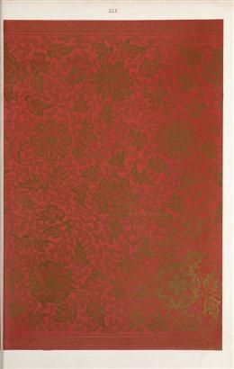 古典中国风红色花纹背景
