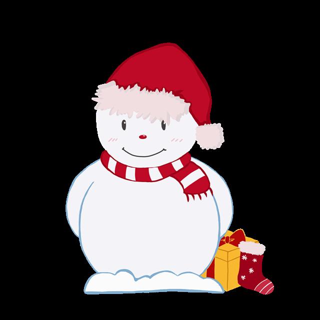 2020圣诞节雪人图片