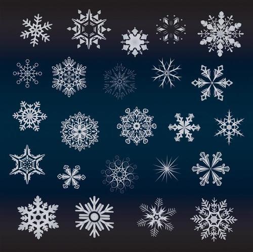 圣诞节冬季雪花背景矢量