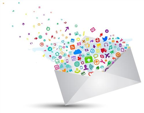 现代风电子邮件矢量图